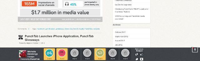 PunchTab Badge Bar