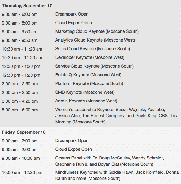 Dreamforce-events